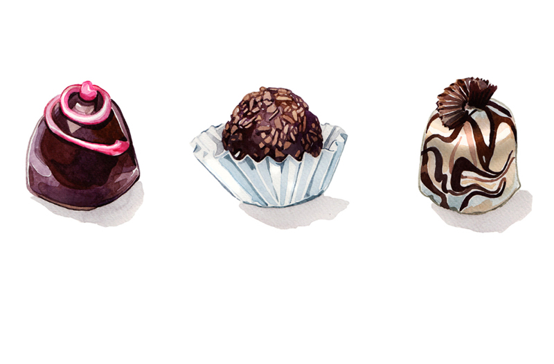 Sweets Food Illustration Holly Exley Illustration