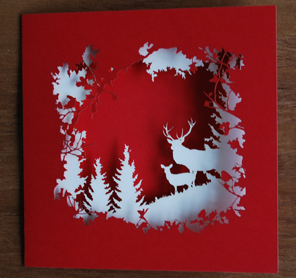 CutLaserCut Christmas Card Laura Barrett Illustration